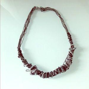 Silver/black necklace